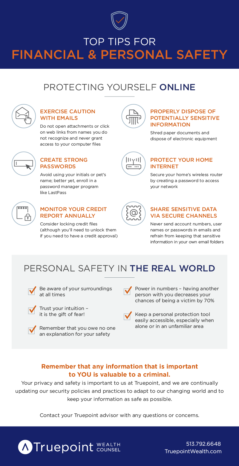 Top Tips for Financial & Personal Safety [Infographic]